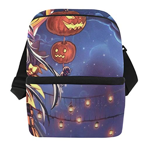 Lovexue Lunch Bag Personalized Halloween Anime Wallpaper Insulated Cooler Bag Mens Leakproof Food Organizer Zipper Tote Bags for Biking