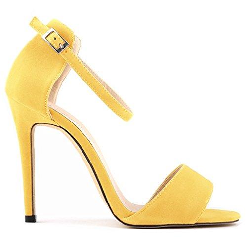 Caviglia Scarpe Giallo Alla Dayiss giallo Donna Con Cinturino PIR4q6