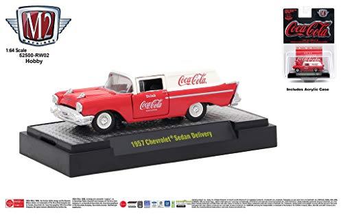 M2 Machines Coca-Cola Release Hobby RW02 1957 Chevrolet Sedan Delivery 18-12