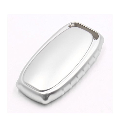 uxcell Silver Tone Remote Key Case Holder Shell Cover Fit For Audi A4L A6L A7 A8 S5 by uxcell