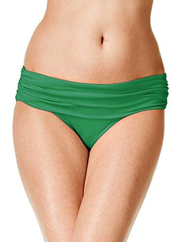 RALPH LAUREN Beach Club Wide Band Bikini Bottom 14 Emerald Womens Swimsuit