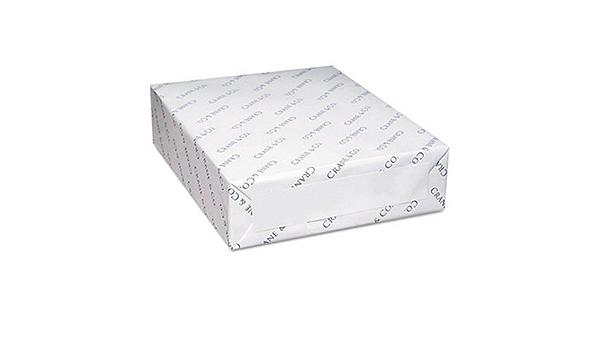 vintage White Wove Crane/'s Crest 100/% Cotton Paper 24 lb. 50 sheets