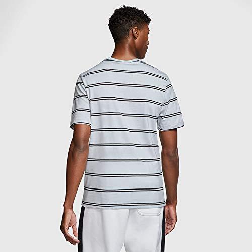 Nike Men's Sportswear Air Max 90 Short Sleeve T-Shirts CW4686-077 Light Smoke Grey/Black 6