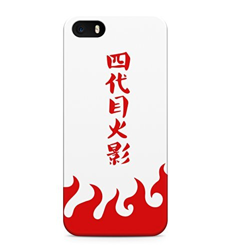 Naruto Fifth Hokage Red Hard Plastic Snap-On Case Skin Cover For iPhone 5 / iPhone 5s