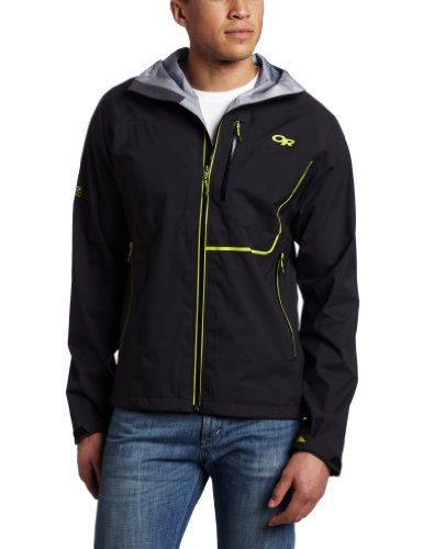 Outdoor Research Men's Axiom Jacket, Small, Black/Lemongrass
