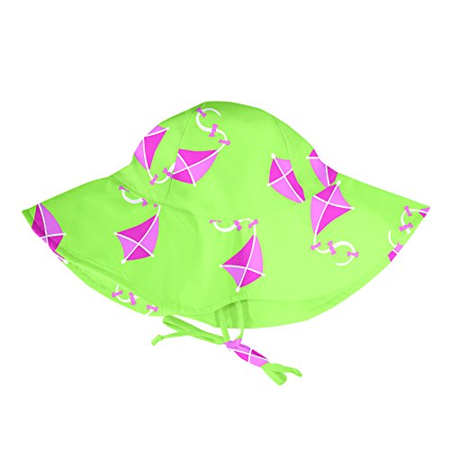 Lässig, Cappello Parasole Iplay-MOD Bambini Sun Protection 50+, Turchese (Aqua Bird), 0-6 Mesi IP787156-679-51