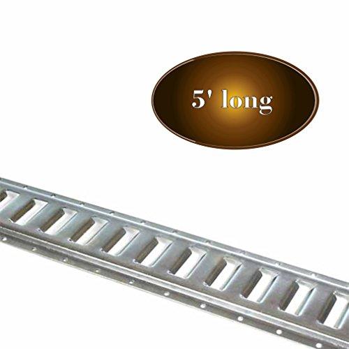 5' E Track Tie-Down Rail, Zinc-Coated Steel ETrack TieDown, 5' Horizontal E-Track, Bolt-On Tie Down Rail for Cargo on Pickups, Trucks, Trailers, ()