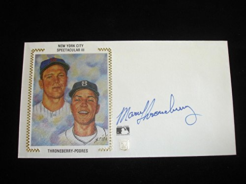 - Marv Throneberry METS Signed First Day Cover Envelope-NYC Spectacular-NM - MLB Cut Signatures
