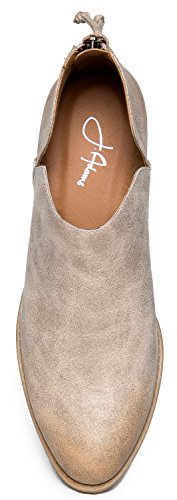 On Slip Toe Adams Pu Zooshoo By Pointed Cute Zip J Boot Low Ankle Stone Cowboy Up Western Womens Levi Heel Bootie Yw80UqY