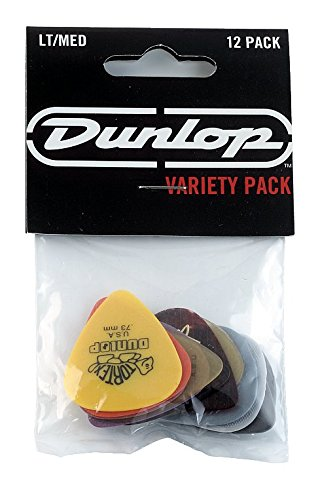 - Dunlop PVP101 Pick Variety Pack, Assorted, Light/Medium, 12/Player's Pack