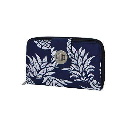 Southern Pineapple Print NGIL Quilted Twist Lock Wallet