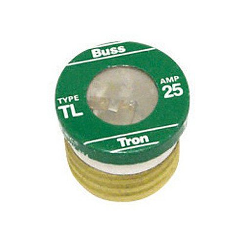 Bussmann TL-25PK4 25 Amp Time Delay, Loaded Link Edison Base Plug Fuse, 125V UL Listed, 4-Pack