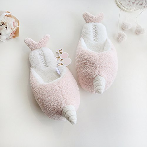 Fleece Foam Women's Unicorn Memory Cozy Treat Trick Halloween HALLUCI House Slippers Whale qxEwFdaf