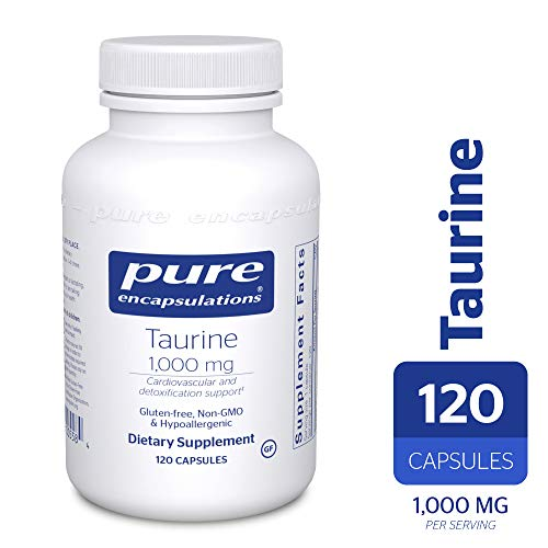 Pure Encapsulations - Taurine 1,000 mg - Hypoallergenic Supplement to Support Brain, Heart, Gallbladder, Eyes, and Vascular System* - 120 Capsules