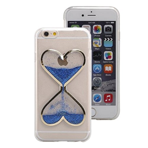 Price comparison product image UCLL Iphone 5/5S/SE Case,Time hourglass Design Case for Iphone 5/5S/SE with a Screen Protector (Blue)