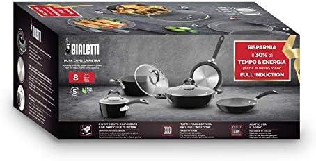 Bialetti 00SET005 Topf und Pfannen 8-teilig Limited Edition Centenario Induktion Aluminium