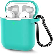 Coffea Protective Silicone Case with Keychain for Apple AirPods 2 (Green)