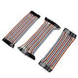 Aukru 3 in 1 kit - Female-Female Male-Female Male-Male Breadboard Jumper Cables Wires for Arduino/Raspberry pi