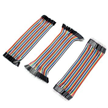 Aukru 3 in 1 kit - Female-Female Male-Female Male-Male Breadboard Jumper Cables Wires for Arduino/Raspberry pi US-3Set Dupont Cable