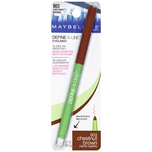 Maybelline Define-A-Line Eyeliner, Chestnut Brown [803] 0.01 oz (Pack of 4) by Maybelline New York