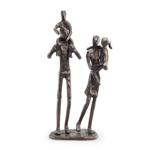 Danya B. ZD12060 Contemporary Metal Shelf Decor - Bronze Sculpture - Parents Carrying ()