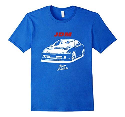 Mens Nice Car Guy Shirt JDM Style as Gift Small Royal Blue