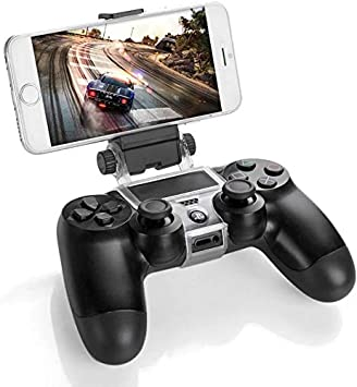 GAMINGER Clip Sujetador de teléfono móvil para control Dualshock de PlayStation 4 PS4 Sony: Amazon.es: Videojuegos