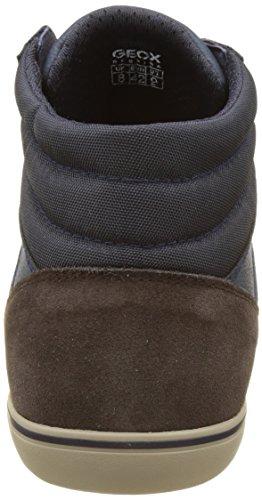Bleu Box Hautes U Noir J Geox Sneakers Coffee Dk Navy Homme pZF05n