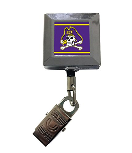 East Carolina Pirates 2-Pack Retractable Badge Holder