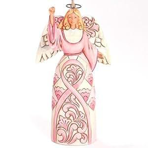 Jim Shore for Enesco Heartwood Creek Pink Ribbon Angel Ornament, 4.75-Inch by Enesco Gift