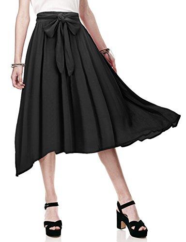 Chiffon Knee Length Skirt - 1
