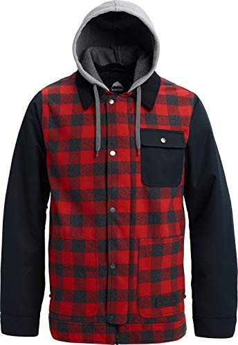 Burton Dunmore Snowboard Jacket Bitters Heather Buffalo Plaid/True Black Sz L