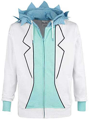 Morty Hoodie Sweatshirt Rick Novelty Multicolore And White aZFqwxRq