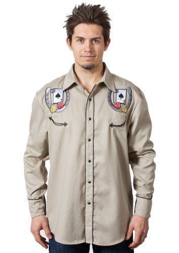 Benny's Las Vegas Casino Blackjack Dice Western Shirt ()