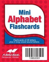 Mini Alphabet Flashcards - Abeka Kindergarten 1st and 2nd Grade 1, 2 Letter Recognition Reading Program Miniture Letter Cards
