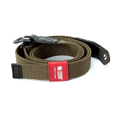 Artisan & Artist Khaki Acrylic Leather Camera Strap by Artisan&Artist