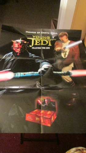 Star Wars Young Jedi Collectible Card Game Menace of Darth Maul Ad Poster 28 Inches High, 22 Inches Wide