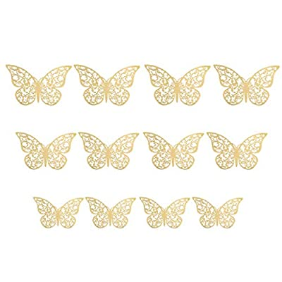 3D Butterfly Wall Decor,24PCS Butterflies Wall Stickers Removable Mural Decals Home Decoration Kids Room Bedroom Decor (E): Arts, Crafts & Sewing