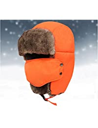 Holyhigh Unisex Trapper Aviator Ski Hat Earflap Warm Winter Caps With Mask