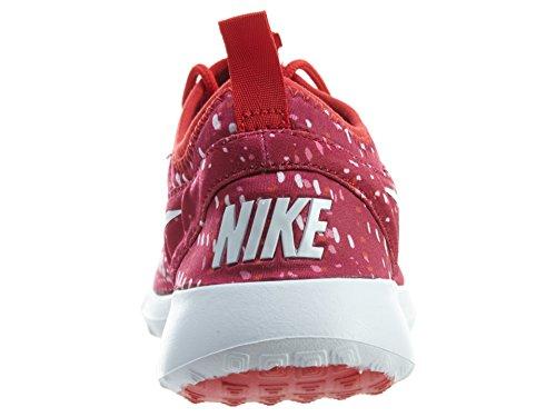Nike Juvenate Print Dames Ronde Neus Canvas Grijze Loopschoen Nbl Rood / Wit-universiteit Red-dgtl P