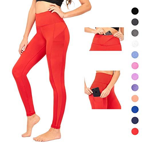 498e17cb2ef558 DEAR SPARKLE Yoga Leggings with 3 Pockets High Waist Workout Tummy Control  Running Legging Plus (