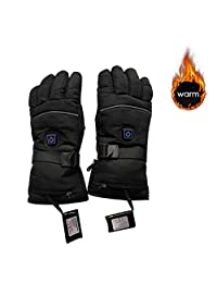 Three-Way Switch Electric Heated Gloves Five-Finger Heated Gloves Motorcycle Cycling Anti-Cold Gloves