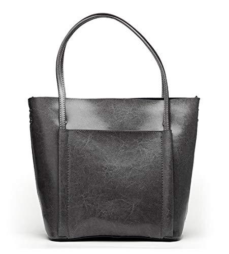 WDBAO Borsa Da Donna Primavera Ed Estate Borsa Shopping Bag Con Tracolla Da Donna Gray