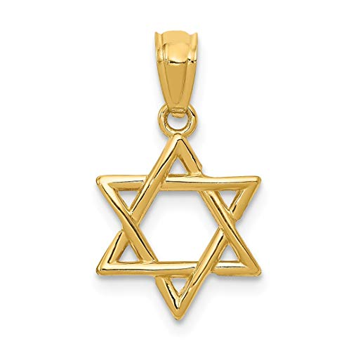 (14k Yellow Gold Jewish Jewelry Star Of David Pendant Charm Necklace Religious Judaica Fine Jewelry For Women Gift Set)