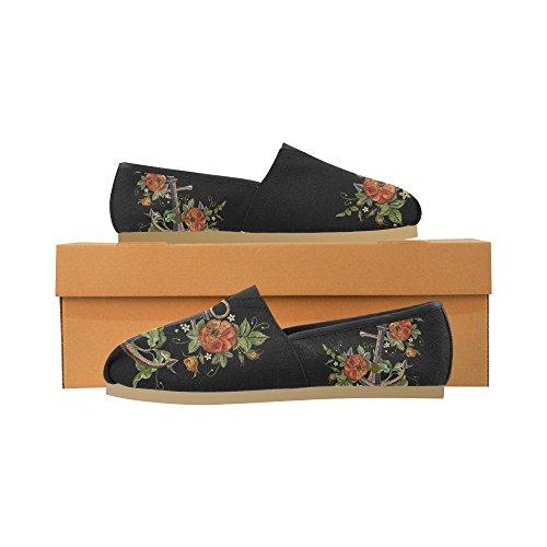 D-story Sneakers Moda Appartamenti Classici Slip-on Canvas Mocassini Multicolore2