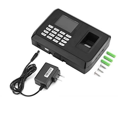 Fingerprint Attendance Machine, 1.8-inch TFT Screen, Employee Checking-in Recorder, 5V/1A Time Clock Recorder Employee Checking-in Reader(US110-240V)