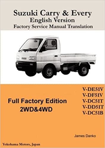 suzuki carry & every english factory service manual paperback – may 19, 2008