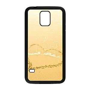 Vety Corazón Patrón en la playa Samsung Galaxy S5casos, {negro}