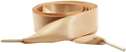 Boheng Lacets Large Plat Satin Ruban Lacets de Chaussures pour Enfants et Adultes 1 Paire