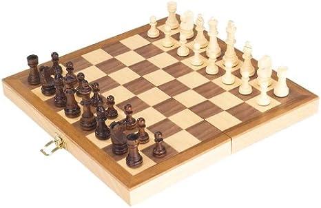 Goki-56921 Juegos de Mesa Ajedrez En Caja de Madera, (4013594569217): Amazon.es: Juguetes y juegos